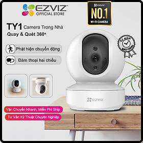 Camera WI-FI EZVIZ TY1-1080P, Smart IR Quan Sát Ban Đêm 10m, Trong Nhà Đàm Thoại 2 Chiều, theo Chuyển Động Thông Minh--Hàng Chính Hãng