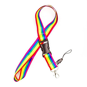 Rainbow Keychain Lanyard - Dây đeo điện thoại móc chìa khóa