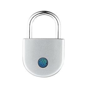 Ổ Khoá Kết Nối Điện Thoại App Vân Tay Thông Minh Sạc Điện Chống Trộm USB