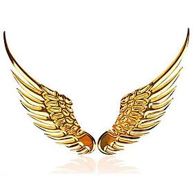 Logo Cánh Chim Ưng 3D Dán Cho Các Loại Xe Ô Tô Màu Vàng