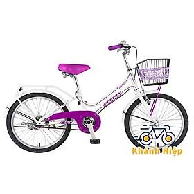 Xe đạp Asama PU20 - Xe đạp trẻ em cho bé gái 7 8 tuổi