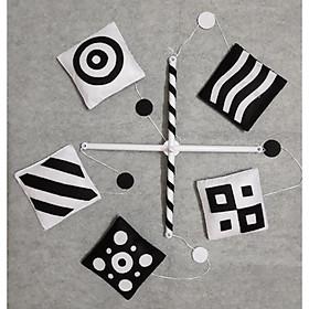Treo nôi đen trắng mẫu vuông kích thích thị giác cho bé