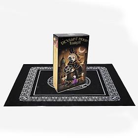 Combo Bộ Bài Bói Deviant Moon Tarot Borderless Edition  và Khăn Trải Tarot