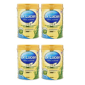 Bộ 4 Lon Sữa Bột DR. Lucen Gainmax 900 Gr : dinh dưỡng cho người gầy