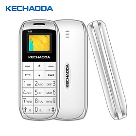 "KECHAODA A26 2G GSM Feature Phone Dual SIM 0.66"" 32MB BT Dialer MP3/FM Mini Mobile Phones for Child Seniors"