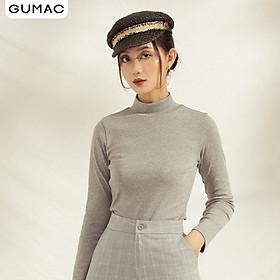 Áo thun nữ thiết kế cổ lọ tay dài ATA1180 GUMAC chất BORIP COTON tôn dáng
