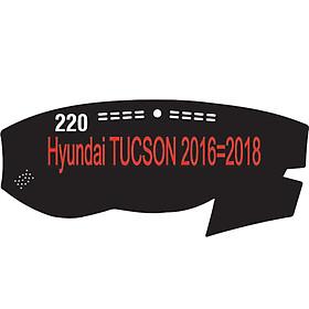 Thảm da Taplo vân Carbon Cao cấp dành cho xe Hyundai-Tucson-2016-2018 có khắc chữ Hyundai-Tucson và cắt bằng máy lazer