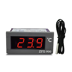 ZFX-900 Embedded Temperature Meter Intelligent Digital Temperature Display Panel for Refrigerator Deepfreeze Cold Closet