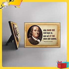 Tranh trích dẫn Benjamin Franklin WB129