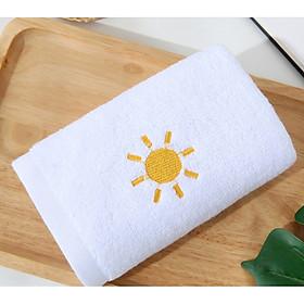 Khăn mặt/Khăn tắm cotton thêu hình thời tiết (mềm, thấm) KT 34x75cm
