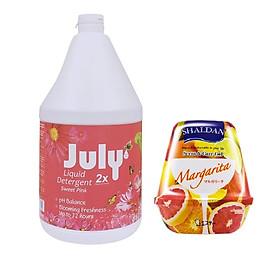 Combo 01 can nước giặt xả Thái Lan July 2X 3,5L + 01 hộp sáp thơm khử mùi Scent & Care Gel 180g (giao mùi ngẫu nhiên)