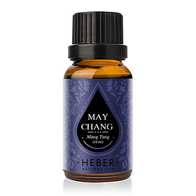 Tinh dầu Màng Tang May Chang Essential Oil Heber | 100% Thiên Nhiên Nguyên Chất Cao Cấp | Nhập Khẩu Từ Ấn Độ | Kiểm Nghiệm Quatest 3 | Xông Hương Thơm Phòng