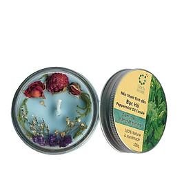 Nến thơm tinh dầu Bạc Hà Lee's Home 100g/ Essential Oil Candle