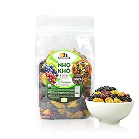 Nho Khô Mix Không Hạt Smile Nuts Túi 500g - Nhập khẩu từ Chile (nho khô hỗn hợp gồm nho đen, nho đỏ và nho vàng)