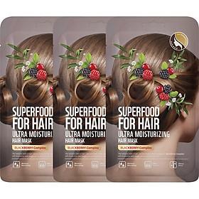 Hộp 3 Mặt Nạ Dưỡng Tóc Farmskin Superfood For Hair (40g x 3 Miếng)