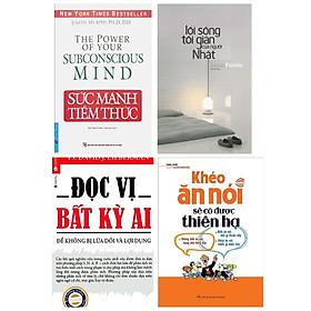 Combo Kỹ Năng Sống Bán Chạy Nhất Mọi Thời Đại: Sức Mạnh Tiềm Thức + Đọc Vị Bất Kỳ Ai - Để Không Bị Dối Lừa Và Lợi Dụng + Khéo Ăn Nói Sẽ Có Được Thiên Hạ + Lối Sống Tối Giản Của Người Nhật (Bộ 4 Cẩm Nang Bứt Phá Bản Thân Và Thu Hút Người Đối Diện / Tặng Kèm Bookmark Happy Life)