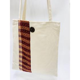 Túi tote thổ cẩm thời trang nữ - Nút cài