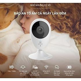 Camera chính hãng wifi Ezviz C2C chống nhiễu và chống ngược sáng kỹ thật số với độ bảo mật cao kèm thẻ nhớ 64GB- Hàng nhập khẩu (TẶNG KÈM ĐẦU ĐỌC THẺ NHỚ CAO CẤP)