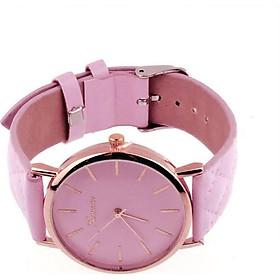 Wrist Watch Pink Bracelet Leather Geneva Wristwatch