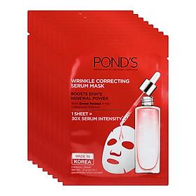 Combo 8 Mặt Nạ Tinh Chất Pond's Làm Mờ Nếp Nhăn Wrinkle Correcting Serum Mask (21g x 8)