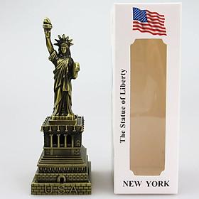 Mô hình tượng nữ thần tự do cao 18 cm (Màu Vàng Rêu)