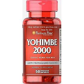 Puritans Pride Yohimbe 2000 Mg, 50 Count