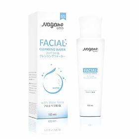 Nước Tẩy Trang Collagen Và Nha Đam Nagano Japan 150ml - Facial Cleansing Water Nagano 150ml- Làm sạch sâu bụi bẩn, dầu thừa trên da và nuôi dưỡng làn da mịn màng, tươi sáng