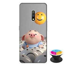 Ốp lưng dành cho điện thoại Realme X hình Heo Con Thả Bong Bóng - tặng kèm giá đỡ điện thoại iCase xinh xắn - Hàng chính hãng