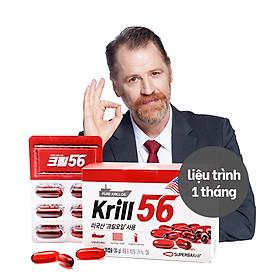 Dầu nhuyễn thể KRILL 56 cao cấp - Red Omega 3 công nghệ mới - liệu trình 1 tháng/ 1 hộp