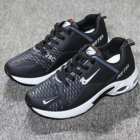 Giày thể thao nam Đế khí Nâng chiều cao 4-5 cm Màu đen - trắng full size từ 39-44 Phong cách Hàn Quốc Mẫu 2020