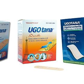 Combo 3 hộp băng dán cá nhân y tế UGOTANA loại nhỏ (KT 19mm*72mm), trung bình (38mm*72mm), to (100mm*200mm)