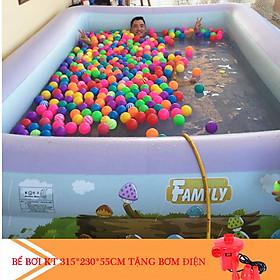 Bể bơi cỡ lớn chính hãng Summer Baby KT 315*250*55CM (tặng kèm bơm điện)