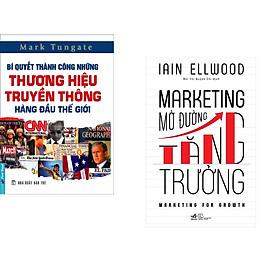 Combo 2 cuốn sách: Bí Quyết Thành Công Những Thương Hiệu Truyền Thông Hàng Đầu Thế Giới + Marketing mở đường tăng trưởng