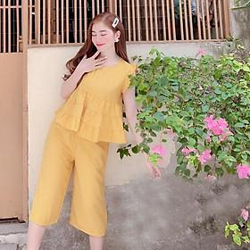 Đồ bộ mặc nhà chất đũi nhật mát mẻ cao cấp TNB75872