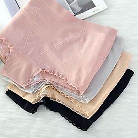 Combo 4 Quần lót nữ, quần mặc trong váy cotton sợi kháng khuẩn QL9 Freesize từ 40-60kg Giao màu ngẫu nhiên tặng 3 mặt nạ