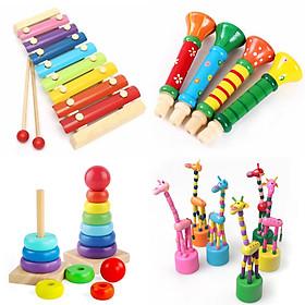 COMBO 4 món đồ chơi gỗ giáo dục cho bé