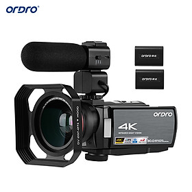 ORDRO HDR-AE8 4K WiFi Digital Video Camera Camcorder DV Recorder 30MP 16X Digital Zoom IR Night Vision 3 Inch IPS LCD
