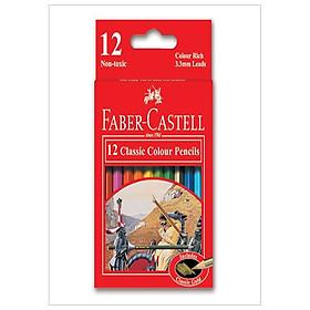 Faber-Castell-115851-Chì Màu Classic Knight - 12 Màu Ngắn