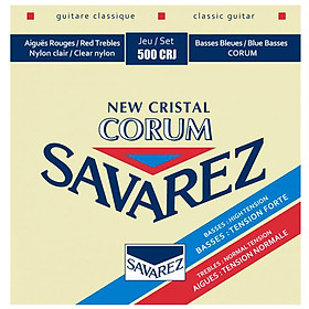 Bộ dây đàn Classical Guitar SAVAREZ NEW CRISTAL CORUM 500CRJ