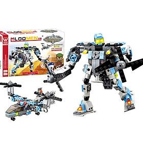 Đồ Chơi Lắp Ghép Robot Máy Bay 2in1 - 245 Chi Tiết
