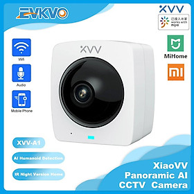 Xiaomi Xiaovv - Toàn cảnh 360 độ - MIHOME APP HD 1080P Rotate Outdoor Wterproof Wireless PTZ IP Camera CCTV WIFI Home Security Surveillance Camera CCTV Infrared Night Vision Two-Way Audio Motion Detection Alarm