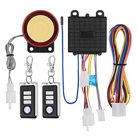 Dc12V Universal Motorcycle Anti-Theft Alarm Security System Remote Control Engine Start Kit Anti-Hijacking Alarm System - Ac Color