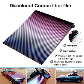 1520mm*300mm Chameleon 3D Carbon Fiber Vinyl Film Auto Car Sticker Truck Motorcycle PhoneStyling Decoration Wrapping Decal