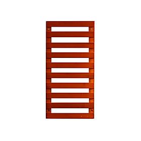 Giá kệ gỗ trang trí treo cây cảnh và đồ vật treo ban công ngoài trời hoặc trong nhà bằng gỗ Tre tự nhiên Chống cong vênh,mối mọt - Màu đỏ sáng