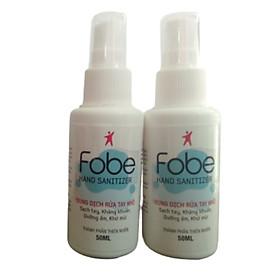 {Combo} 2 Chai nước rửa tay khô kháng khuẩn Fobe Fobe Hand sanitizer ( Chai xịt 50ml )