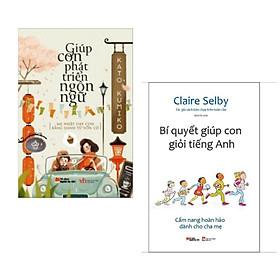 Combo 2 cuốn sách hay về nuôi dạy con : Giúp Con Phát Triển Ngôn Ngữ + Bí Quyết Giúp Con Giỏi Tiếng Anh ( Tặng kèm Bookmark Happy Life)