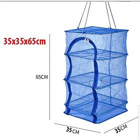 Lồng lưới treo 4 tầng để phơi cá khô có thể xếp gọn