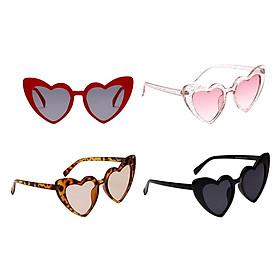 4x Heart Frame Sunglasses Retro Style Sun Glasses Party Club Costume Eyewear
