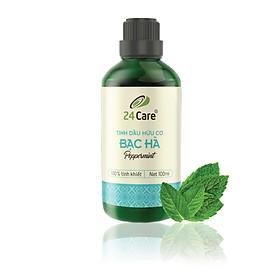 Tinh dầu Bạc Hà 24Care 100ml - Chiết xuất thiên nhiên, khử mùi, thơm phòng, giúp tinh thần tỉnh táo.