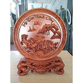 Tranh đĩa gỗ phong thủy Mã Đáo Thành Công